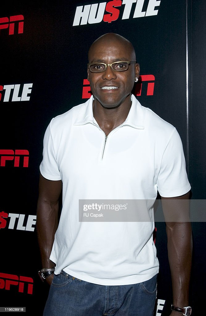 Carl Lewis during 'Hustle' ESPN New York Premiere at Ziegfeld Theater in New York City, NY, United States.