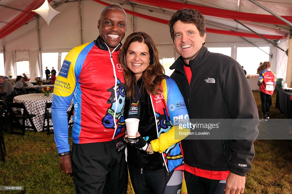<a gi-track='captionPersonalityLinkClicked' href=/galleries/search?phrase=Carl+Lewis&family=editorial&specificpeople=206414 ng-click='$event.stopPropagation()'>Carl Lewis</a>, <a gi-track='captionPersonalityLinkClicked' href=/galleries/search?phrase=Maria+Shriver&family=editorial&specificpeople=179436 ng-click='$event.stopPropagation()'>Maria Shriver</a> and Mark Shriver attend Audi Best Buddies Challenge Luncheon on October 20, 2012 in Washington, DC.