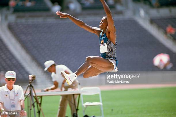 Carl Lewis Participating in Olympic Long Jump Trials