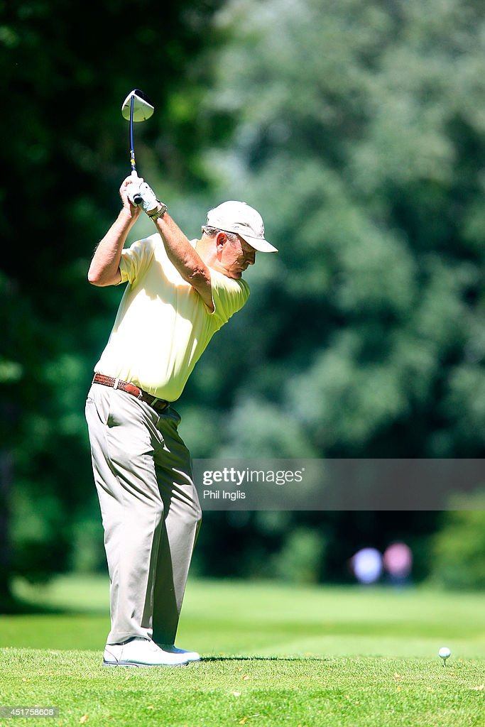 Carl Mason of England in action during the final round of the Bad Ragaz PGA Seniors Open played at Golf Club Bad Ragaz on July 6, 2014 in Bad Ragaz, Switzerland.