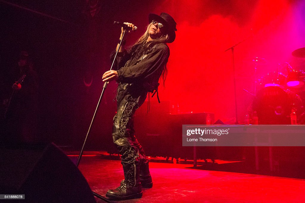 Carl McCoy of Fields Of The Nephilim performs at The Forum on June 20 2016 in London England