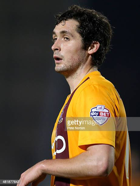 Carl McHugh of Bradford City in action during the Sky Bet League One match between Coventry City and Bradford City at Sixfields Stadium on April 1...