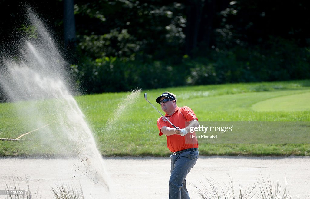 Carl Pettersson of Sweden during a practice round prior to the Deutsche Bank Championship at TPC Boston on August 27 2014 in Norton Massachusetts