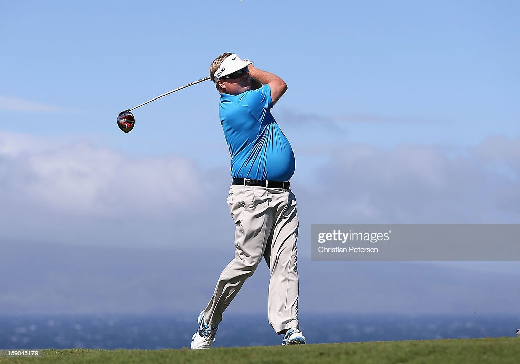 Carl Pettersson of Sweden hits a tee shot on the 10th hole during the replay of the first round of the Hyundai Tournament of Champions at the Plantation Course on January 6, 2013 in Kapalua, Hawaii.