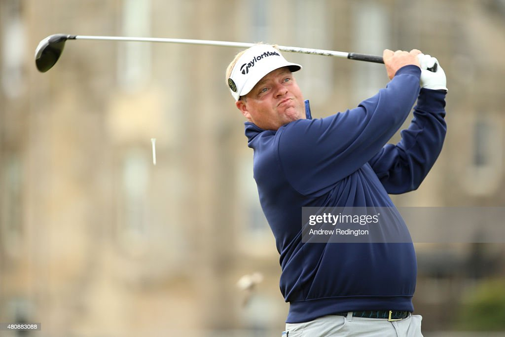 Carl Pettersson of Sweden tees off on the 2nd during the first round of the 144th Open Championship at The Old Course on July 16 2015 in St Andrews...