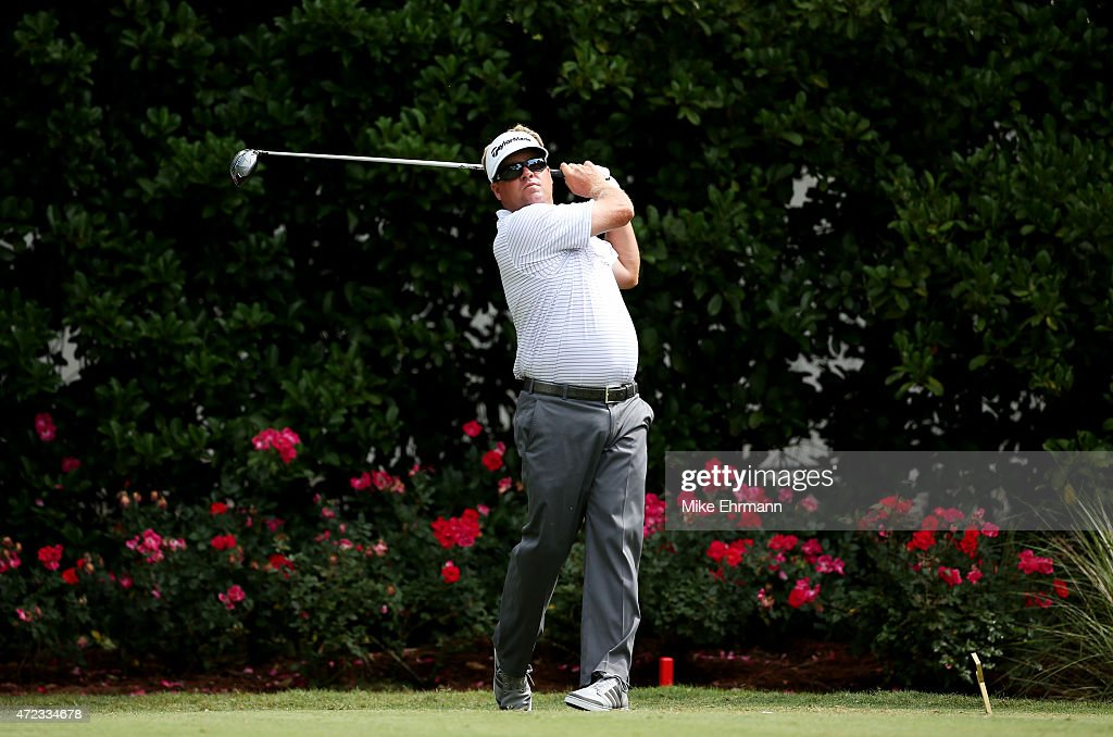 Carl Pettersson plays his shot from the 11th tee during a practice round for THE PLAYERS Championship at the TPC Sawgrass Stadium course on May 6...