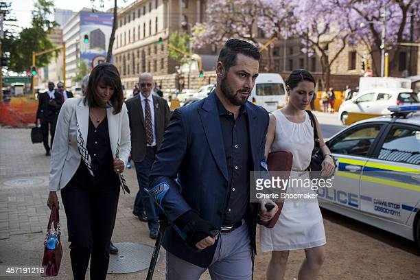 Carl Pistorius Oscar's brother arrives at North Gauteng High Court on October 14 2014 in Pretoria South Africa Pistorius will be sentenced having...