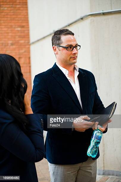Carl Pistorius Oscar's brother arrives at the Pretoria Magistrates court on June 4 in Pretoria South Africa Oscar Pistorius is accused of the murder...