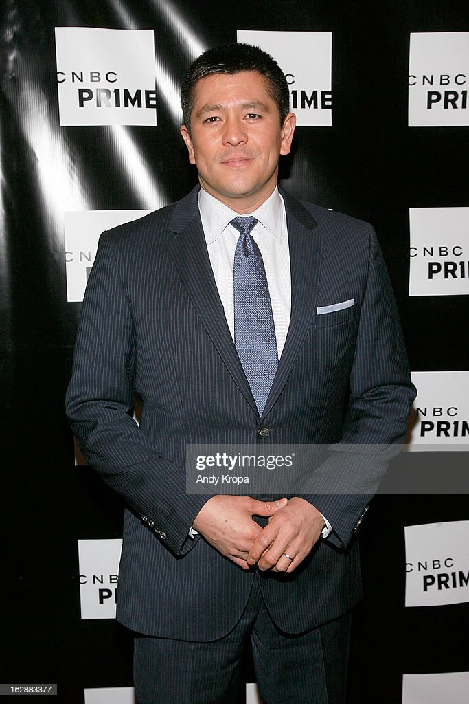 Carl Quntanilla attends the CNBC Prime Premiere Launch at Classic Car Club on February 28, 2013 in New York City.