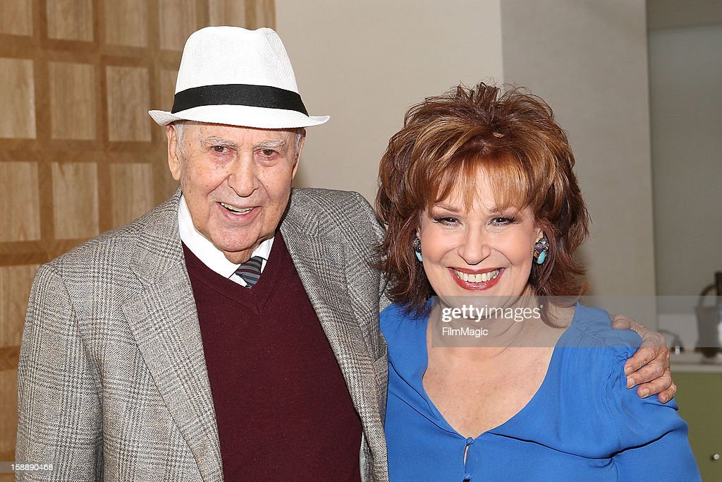<a gi-track='captionPersonalityLinkClicked' href=/galleries/search?phrase=Carl+Reiner&family=editorial&specificpeople=660635 ng-click='$event.stopPropagation()'>Carl Reiner</a> and <a gi-track='captionPersonalityLinkClicked' href=/galleries/search?phrase=Joy+Behar&family=editorial&specificpeople=214608 ng-click='$event.stopPropagation()'>Joy Behar</a> attend the <a gi-track='captionPersonalityLinkClicked' href=/galleries/search?phrase=Joy+Behar&family=editorial&specificpeople=214608 ng-click='$event.stopPropagation()'>Joy Behar</a> Set Photography For Current TV at The London Hotel on January 2, 2013 in West Hollywood, California.