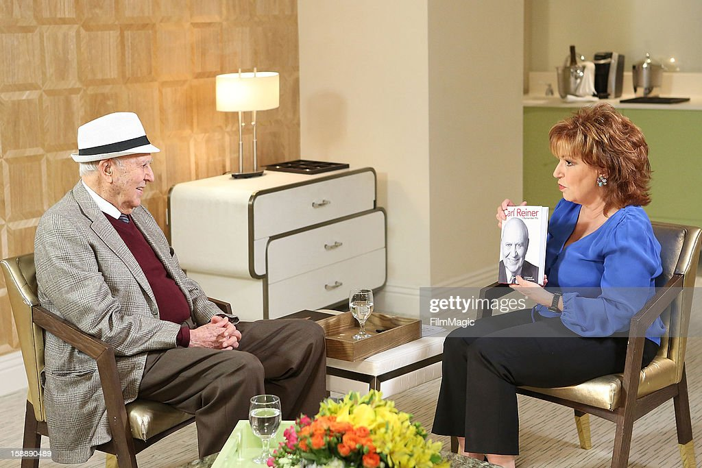 Carl Reiner and Joy Behar attend the Joy Behar Set Photography For Current TV at The London Hotel on January 2, 2013 in West Hollywood, California.