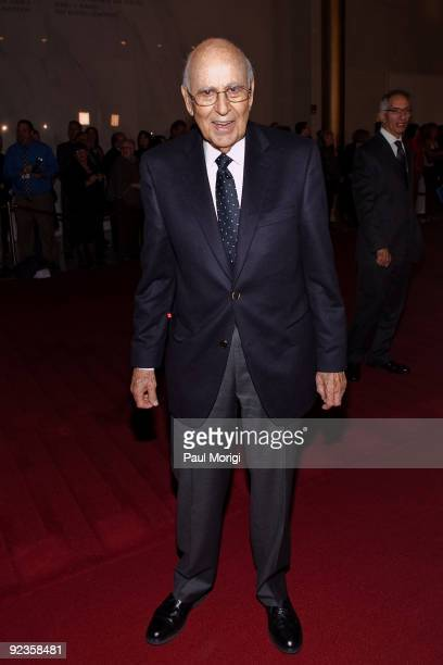 Carl Reiner arrives at the 12th Annual Mark Twain Prize at the John F Kennedy Center for the Performing Arts on October 26 2009 in Washington DC