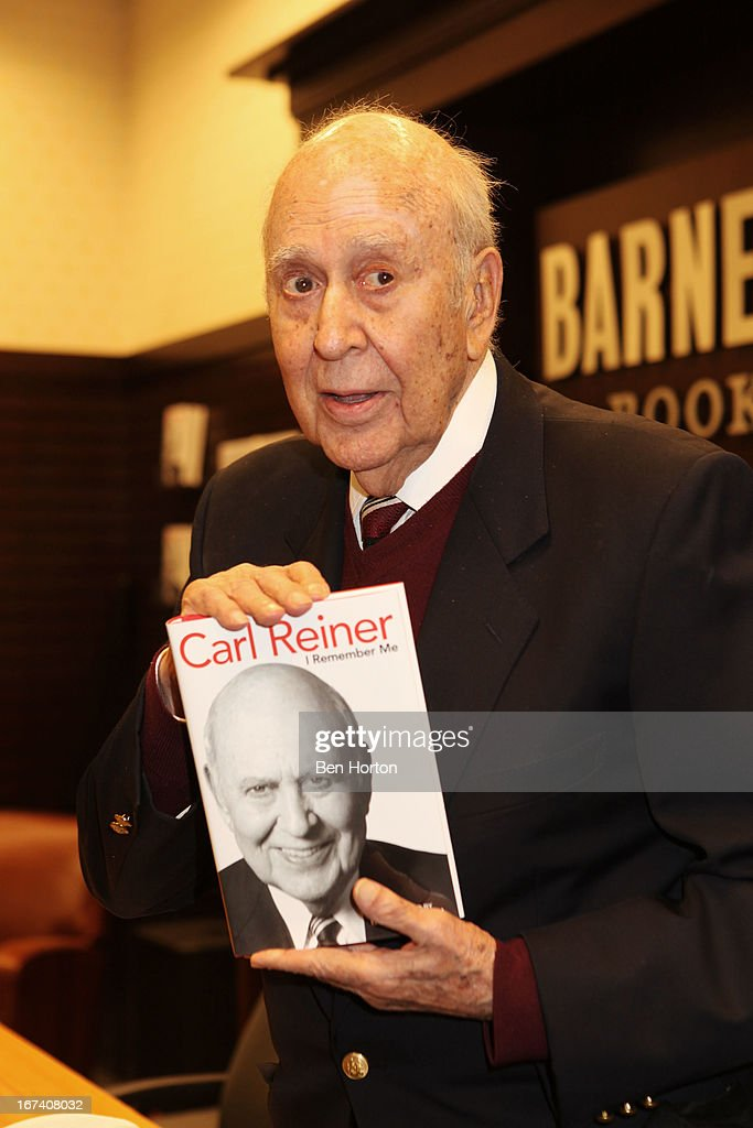 Carl Reiner signs copies of his book 'I Remember Me' at Barnes & Noble bookstore at The Grove on April 24, 2013 in Los Angeles, California.