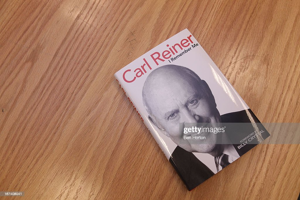<a gi-track='captionPersonalityLinkClicked' href=/galleries/search?phrase=Carl+Reiner&family=editorial&specificpeople=660635 ng-click='$event.stopPropagation()'>Carl Reiner</a>'s new book 'I Remember Me' at Barnes & Noble bookstore at The Grove on April 24, 2013 in Los Angeles, California.