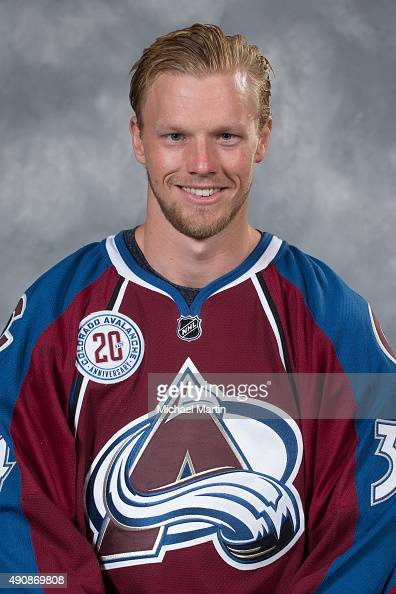 Carl Soderberg of the Colorado Avalanche poses for his official headshot for the 20152016 NHL season on September 17 2015 at the Pepsi Center in...