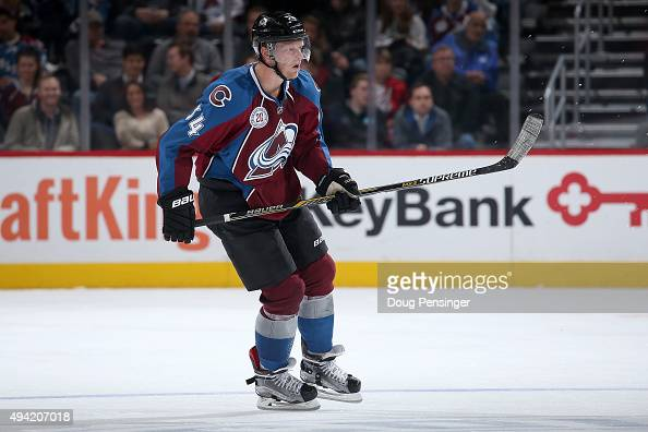 Carl Soderberg of the Colorado Avalanche skates against the Carolina Hurricanes at Pepsi Center on October 21 2015 in Denver Colorado The Hurricanes...