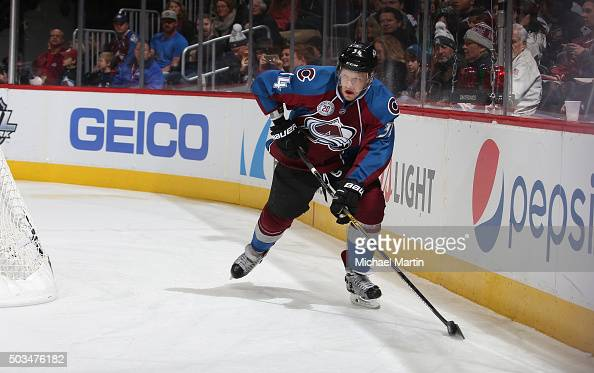 Carl Soderberg of the Colorado Avalanche skates against the Los Angeles Kings at the Pepsi Center on January 4 2016 in Denver Colorado The Avalanche...
