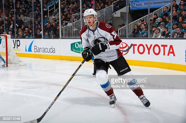 Carl Soderberg of the Colorado Avalanche skates against the San Jose Sharks at SAP Center on December 28 2015 in San Jose California