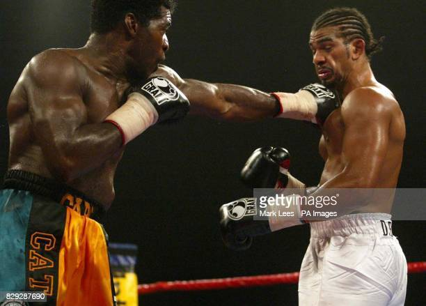 Carl Thompson left on his way to retaining his IBO Cruiserweight title at Wembley Arena Friday 10th September 2004 Thompson stopped challenger David...
