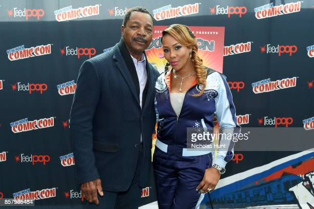 Carl Weathers and Vivica A Fox attend the Explosion Jones Panel at the 2017 New York Comic Con Day 1 on October 5 2017 in New York City