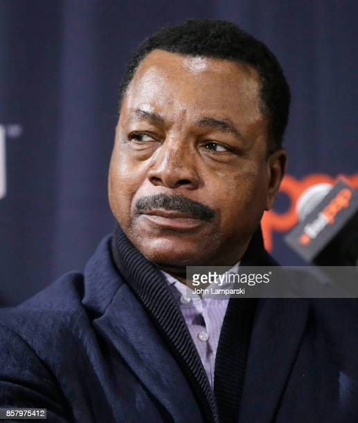Carl Weathers speaks during the Explosion Jones panel during the 2017 New York Comic Con Day 1 on October 5 2017 in New York City