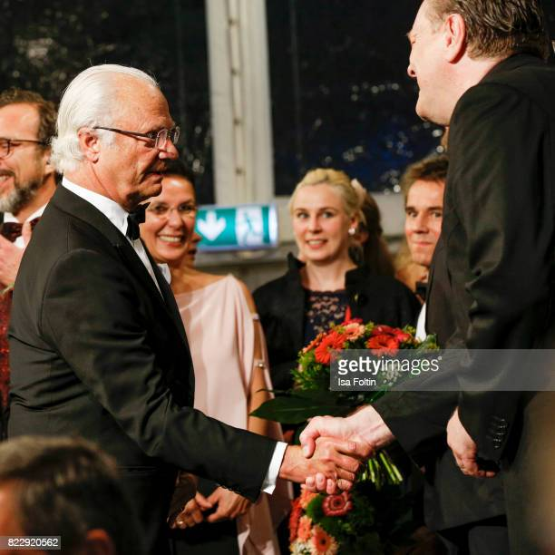 Carl XVI Gustaf King of Sweden during the Bayreuth Festival 2017 State Reception on July 25 2017 in Bayreuth Germany