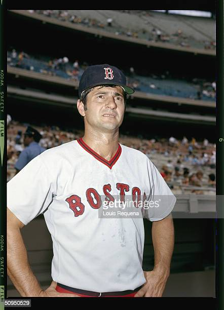 Carl Yastrzemski of the Boston Red Sox at Yankee Stadium in Bronx New York circa 1972 Yaz played for the Red Sox from 19611983