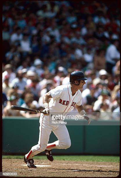 Carl Yastrzemski of the Boston Red Sox batting at Fenway Park in Boston Massachusetts in 1982 Yaz played for the Red Sox from 19611983