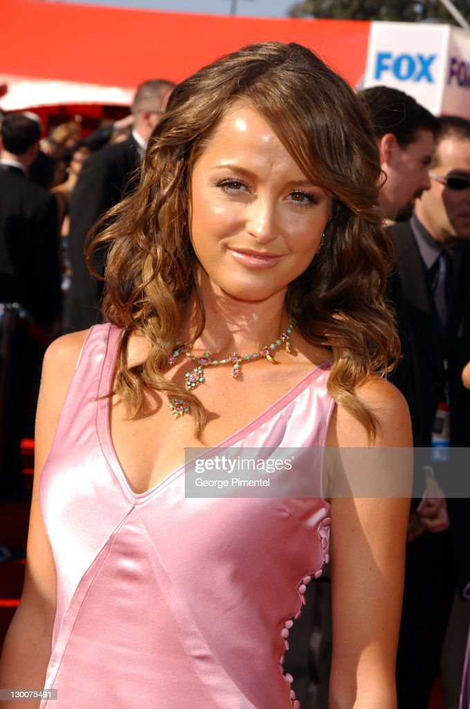Carla Alapont during The 55th Annual Primetime Emmy Awards - Access Hollywood Red Carpet at The Shrine Theater in Los Angeles, California, United States.