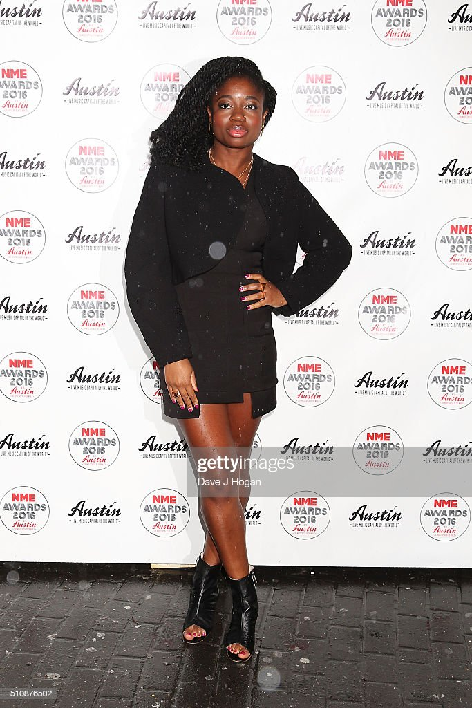Carla Amfo arrives for the NME awards at O2 Academy Brixton on February 17 2016 in London England