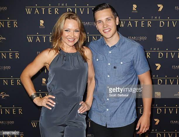 Carla Bonner and Harley Bonner arrive at the Melbourne Premier of 'The Water Diviner' at Rivoli Cinema on December 3 2014 in Melbourne Australia
