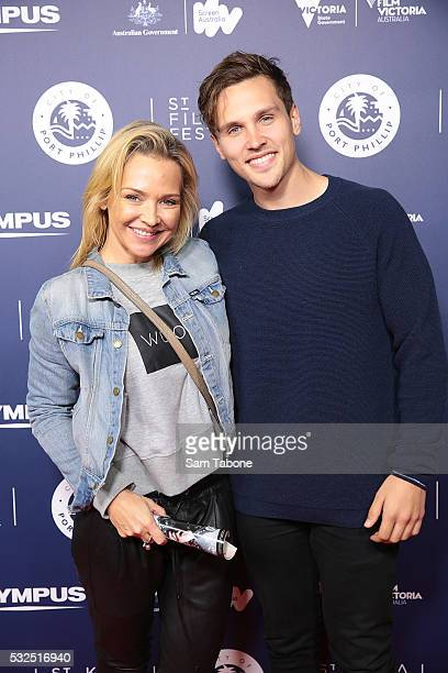 Carla Bonner And Harley Bonner attends Opening Night of the St Kilda Film Festival at the Palais Theatre on May 19 2016 in St Kilda Australia