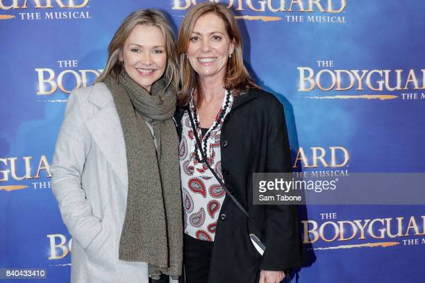 Carla Bonner and Kerry Armstrong during a production media call for The Bodyguard at Regent Theatre on August 29 2017 in Melbourne Australia