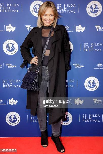 Carla Bonner arrives ahead of the St Kilda Film Festival 2017 Opening Night at Palais Theatre on May 18 2017 in Melbourne Australia