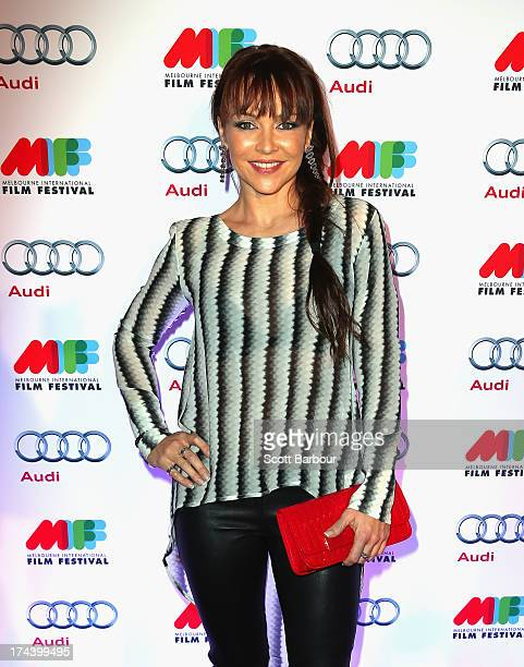 Carla Bonner arrives at the Australian premiere of 'I'm So Excited' on opening night of the Melbourn International Film Festival at Hamer Hall on...