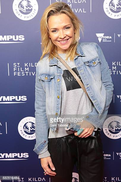 Carla Bonner attends Opening Night of the St Kilda Film Festival at the Palais Theatre on May 19 2016 in St Kilda Australia