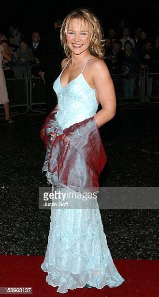 Carla Bonner Attends The 2002 National Television Awards At London'S Royal Albert Hall