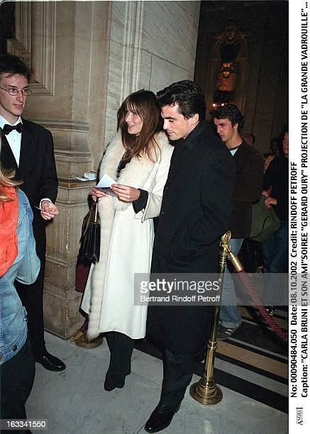 Carla Bruni and her friend 'Gerard Oury' film screening of 'La Grande Vadrouille' at the Garnier opera