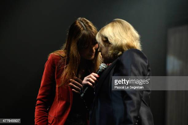 Carla Bruni and Marianne Faithfull perform at L'Olympia on March 11 2014 in Paris France