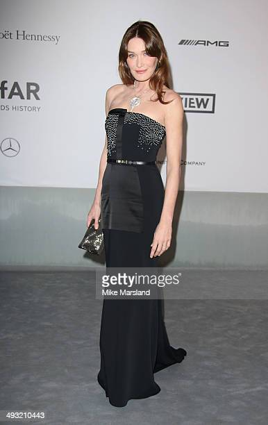 Carla Bruni attends amfAR's 21st Cinema Against AIDS Gala Presented By WORLDVIEW BOLD FILMS And BVLGARI at the 67th Annual Cannes Film Festival on...