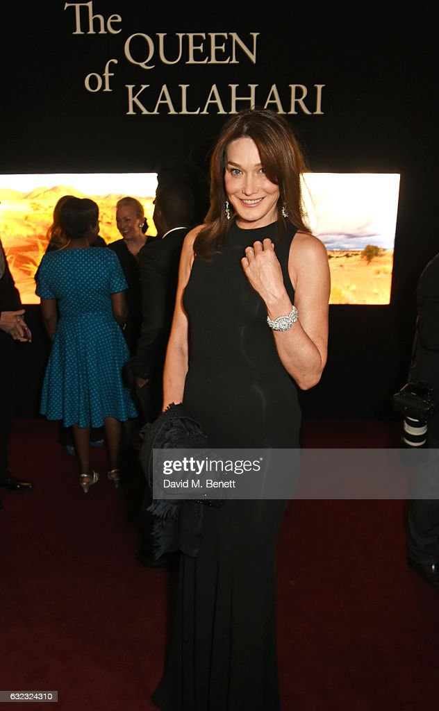 Carla Bruni attends as Chopard presents The Garden Of Kalahari collection at Theatre du Chatalet on January 21, 2017 in Paris, France.