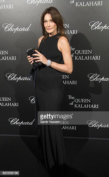 Carla Bruni attends Chopard presenting The Garden of Kalahari at Theatre du Chatelet on January 21 2017 in Paris France