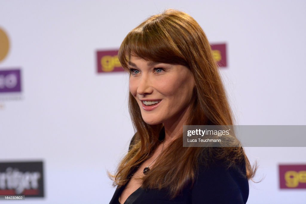Carla Bruni attends the Echo Award 2013 at Palais am Funkturm on March 21, 2013 in Berlin, Germany.