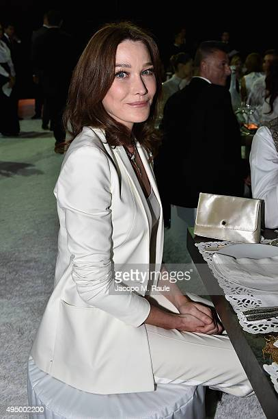 Carla Bruni attends the Gala event during the Vogue Fashion Dubai Experience 2015 at Armani Hotel Dubai on October 30 2015 in Dubai United Arab...