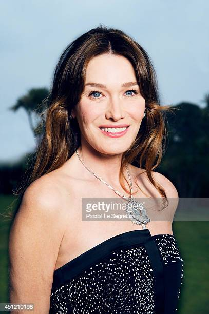 Carla Bruni is photographed at AmfAR's 21st Cinema Against AIDS Gala on May 22 2014 in Cap d'Antibes France