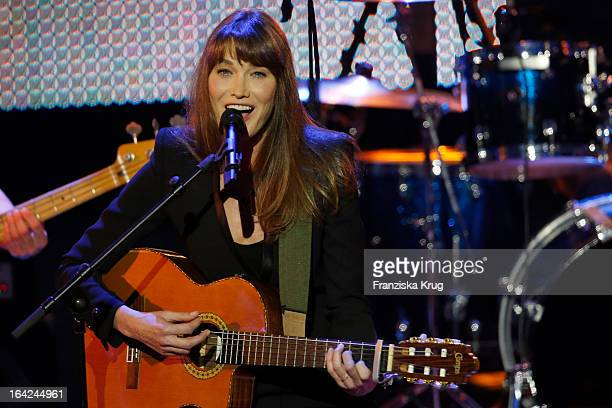 Carla Bruni performs at the Echo Award 2013 at Palais am Funkturm on March 21 2013 in Berlin Germany