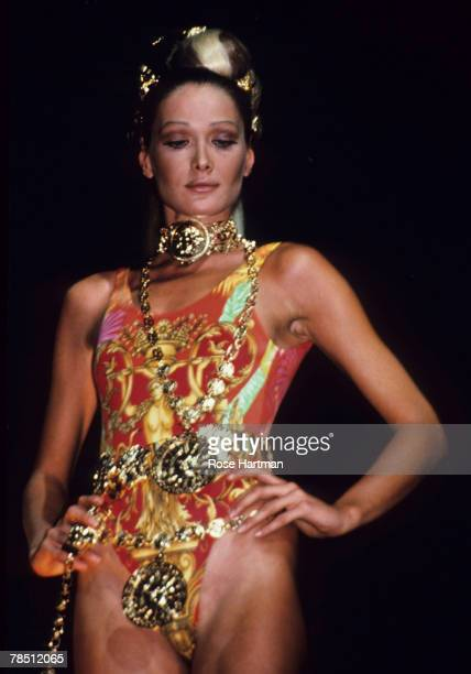 carla bruni versace stock photos and pictures getty images