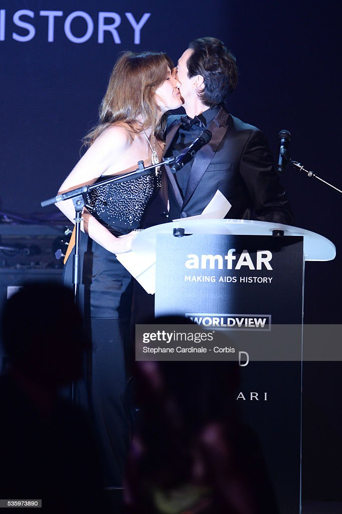 Carla Bruni Sarkozy and Adrian Brody at the amfAR's 21st Cinema Against AIDS Gala at Hotel du Cap-Eden-Roc during the 67th Cannes Film Festival