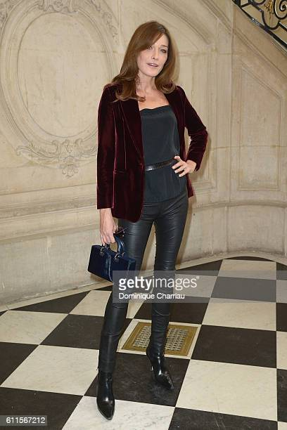 Carla Bruni Sarkozy attends the Christian Dior show as part of the Paris Fashion Week Womenswear Spring/Summer 2017 on September 30 2016 in Paris...