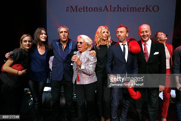 Carla Bruni Sarkozy Julien Clerc Member of the Honor Committee of the Association for Research on Alzheimer's Veronique de Villele Sandrine Kiberlain...